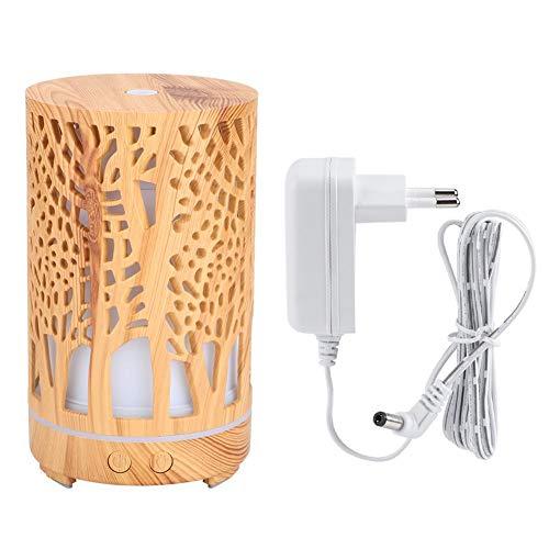 Máquina de aromaterapia con humidificador de Aire 200 ml Mini humidificador de Escritorio Purificador de Aire Difusor de Aroma Mudo para Uso en el hogar(Erdiges Gelb)
