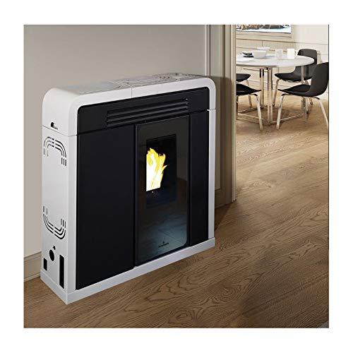 Estufa de pellet Slim Cappita, 9 kW (negro - blanco)