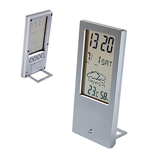 PROMO SHOP Estacion Meteorologica Digital con Higrometro y Termometro para Casa · Estación Inalambrica con función de Alarma y Calendario