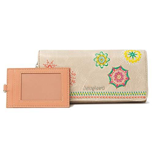 Desigual Long Wallet, Travel Accessory-Cintura Money Donna, Marrone, U