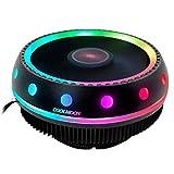 MagiDeal Ventilador Enfriador de CPU radiador 12V Colorido RGB LED 3 Pines para Intel LGA775/1150/1151/1155/1156/1366 para AMD FM2/AM4/FM1/AM3/AM2 Socket