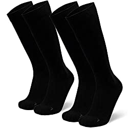Abgestufte Kompression Socken für Männer & Frauen EU 43-47 // UK 9-12 Schwarz - 2 Paare