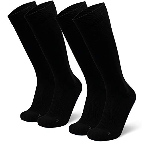 DANISH ENDURANCE Abgestufte Kompression Socken für Männer & Frauen EU 35-38 // UK 3-5 Schwarz - 2 Paare