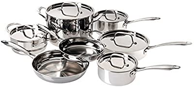Cuisinart WMCS Tri Ply Stainless Cookware Set (12 Pieces)