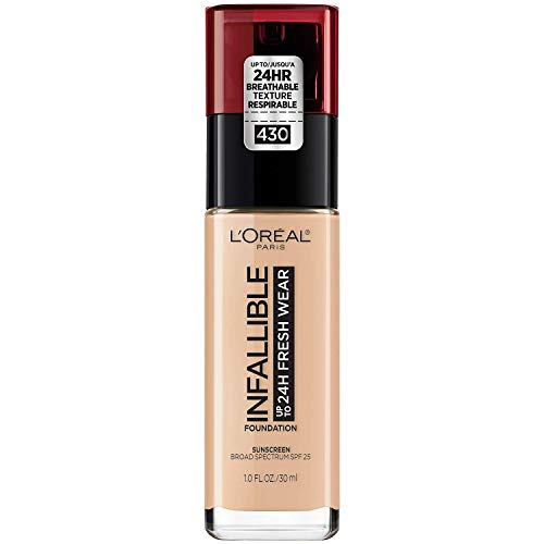 L'Oreal Paris Makeup Infallible Up to 24 Hour Fresh Wear Foundation, Ivory Buff, 1 fl; Ounce