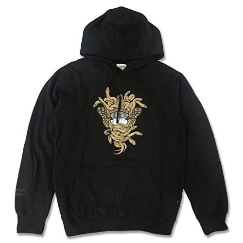 Crooks & Castles Gold OG Medusa Pullover Hoodie Schwarz Gr. XL, Schwarz