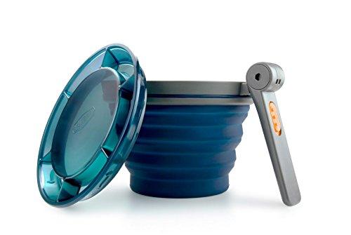 GSI Outdoors Faltbarer Becher mit Klappgriff, Blau, 79202