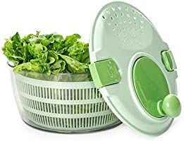 ERGOCUIS Salad Spinner, vegetable bowl, berry colander basket, fruit containers with two locks lid. BPA Free, One...