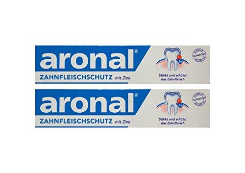 2x aronal Zahnpasta 75ml Zahnfleischschutz mit Zink PZN: 9431782 elmex Forschung