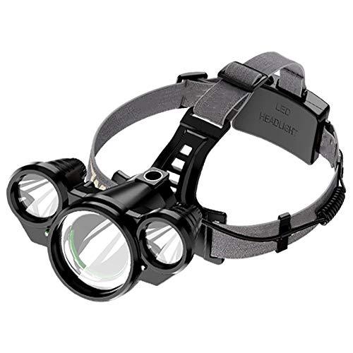 Intelligente, super heldere koplampen verblinden lange koplampen met LED-koplampen 18650 USB, waterdichte, buiten gemonteerde outdoor zaklamp met 4 lichtbronnen, dual mode-campingschijf.