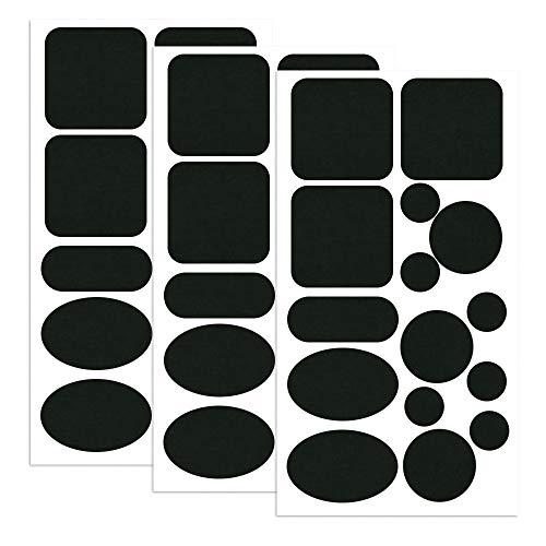 Skystuff Lot de 45 patchs de réparation en nylon pour doudoune - Forme ronde et ovale - Noir