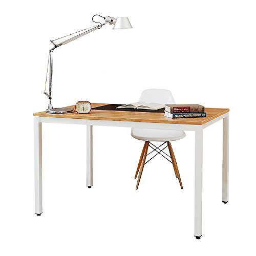 SogesHome Computer Desk 100 x 60 x 75 cm PC Desk Office Desk Workstation for Home Office Use Writing Table,Dinner Table Conference Table,AC3BW-100-SH