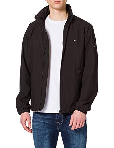 Tommy Hilfiger Stand Collar Jacket Chaqueta, Negro, XS para Hombre