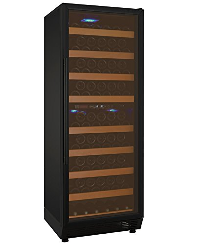 Allavino YHWR99-2BRN 99 Bottle Dual-Zone Wine Cellar Refrigerator - Black Door...
