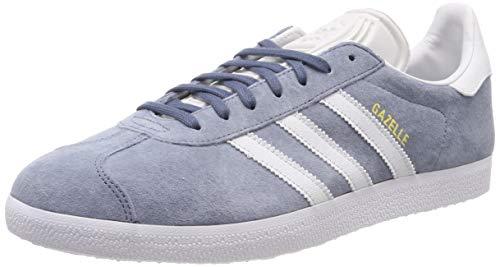 adidas Gazelle, Chaussures de Gymnastique homme - Gris (Raw Steel S18/Crystal White/Ftwr White Raw Steel...