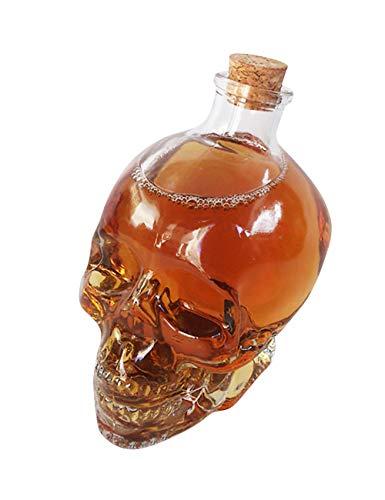 EZSTAX Totenkopf Gläser Schädel Karaffe Weinflasche Whisky Flasche Tasse, 400ml