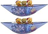2 PK - SimpleHouseware Stuffed Animals Jumbo Toy Storage Hammock, Dark Blue
