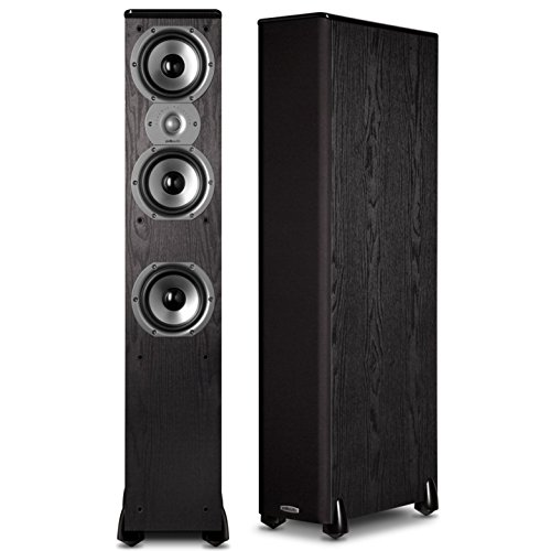 8. Polk Audio TSi400 4-Way Tower Speakers (Pair)