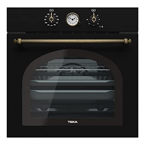 TEKA   Horno Multifunción Country Style Edition   Modelo HRB 6300   Reloj analógico   9 funciones de cocinado   Eficiencia energética A   Antracita   59.5 x 59.5 x 55.9 cm