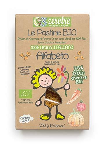 03 Zerotre mangia e scopri Alfabetodi Semola Bio con Verdure - 250 g