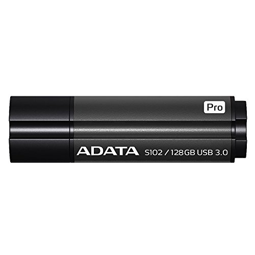 ADATA S102 Pro Advanced 128GB USB3.1 Flashlaufwerk, Titanium grau