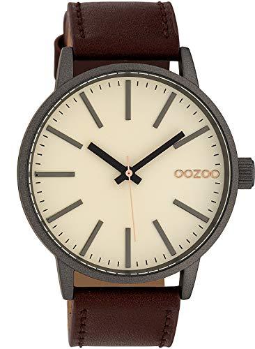 Oozoo Armbanduhr Creme/Braun 45 mm C10010