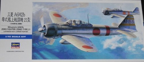 HASEGAWA 00451 1/72 Mitsubishi A6M2 Zero Fighter Type 21 (Zeke) by Hasegawa