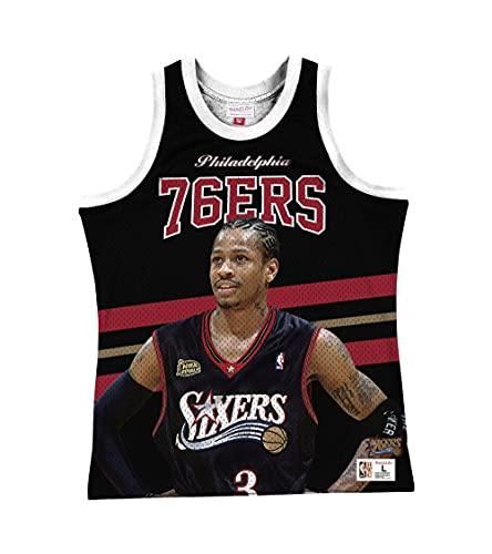 Mitchell & Ness NBA Sublimated Player Réservoir Philadelphia 76ers Allen Iverson - Noir - Large