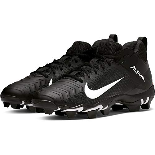 Nike Men's Alpha Menace 2 Shark Wide Football Cleat Black/White/Anthracite Size 7 M US