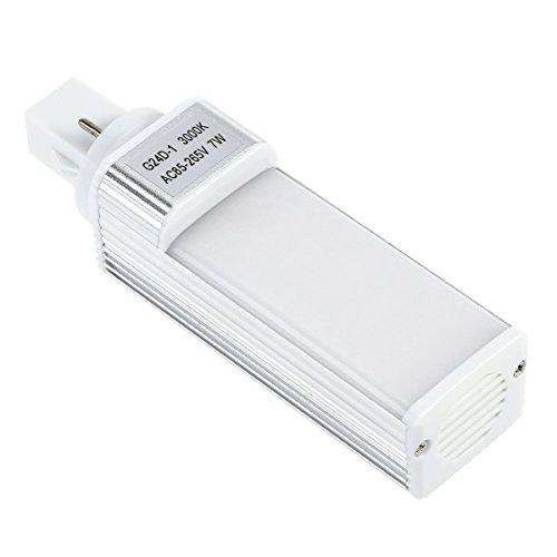 UEETEK LED Lámpara de Acuario 7W G24 Bombilla de Ahorro de Energía para Caja de Pescado (Luz Blanca Cálida)