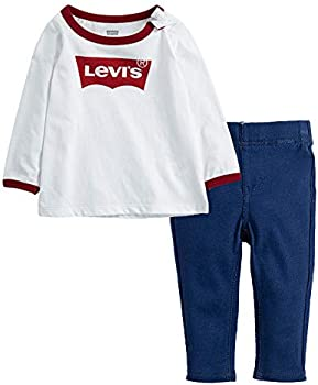 Levi's 2-Piece Baby Girls' Long Sleeve Top and Leggings Outfit Set