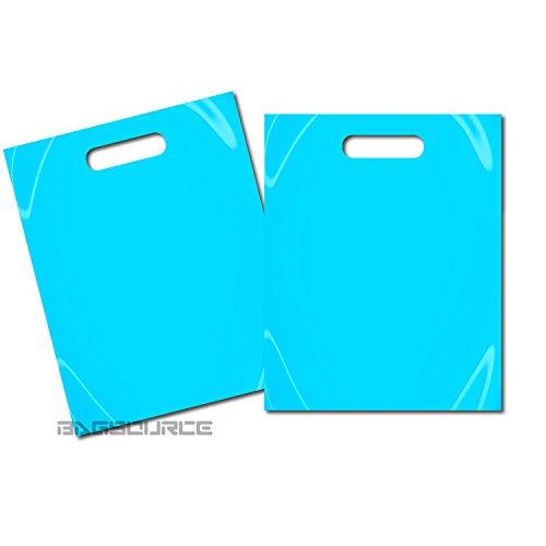 100 9x12 Teal Blue Plastic Merchandise Bags