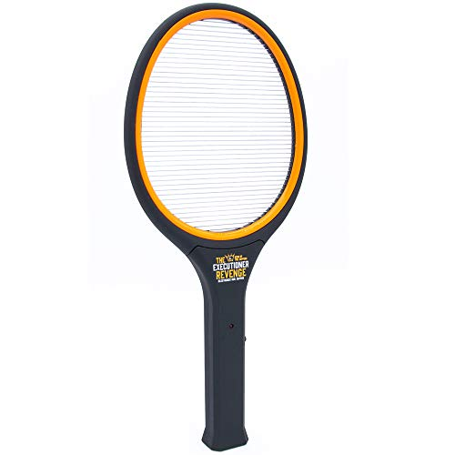 Sourcing4U Limited The Executioner Revenge Fly Zapper Mosquito Swatter Racket Wasp Bug Zapper Indoor Outdoor Soft Touch Handle