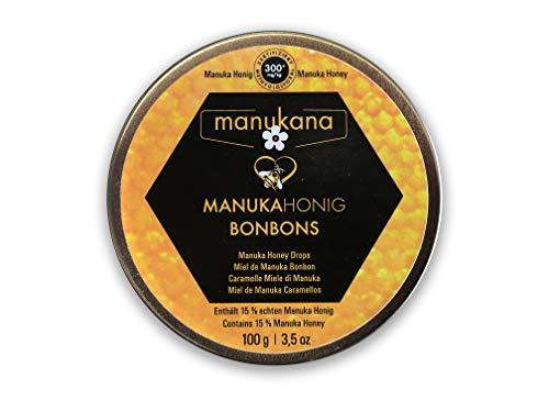 Manukana Himmlische Manuka Honigbonbons in Zinkdose 100g | MGO 300+
