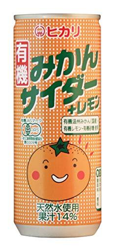 光食品 有機みかんサイダー+レモン 250ml×30本