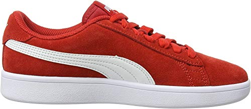 Puma Unisex-Kinder Smash v2 SD Jr Zapatillas, Rot (High Risk Red White), 36 EU