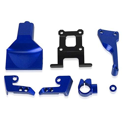 CGGA Neue CNC-Motorrad-Zubehör-Lenkung stabilisieren Dämpferhalterung für Yamaha MT-07 MT07 FZ07 FZ-07 2016-2018 2017 (Color : Blue)