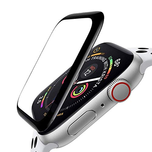 ZPIAR [3 Pack] Screen Protector for Apple Watch 44mm Series 6/SE/5/4 Full Screen Coverage Bubble Free Waterproof Anti-Scratch Ultra HD Full Cover Edge Flexible Film for iWatch SE/Series 6 5 4 (44mm)
