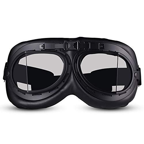 SunAll Vespa del motorista Gafas de protección UV retro vidrios de la motocicleta de motocross Moto Gafas de la vendimia del aviador del piloto Eyewea Gafas Hombres Mujeres deportes al aire libre
