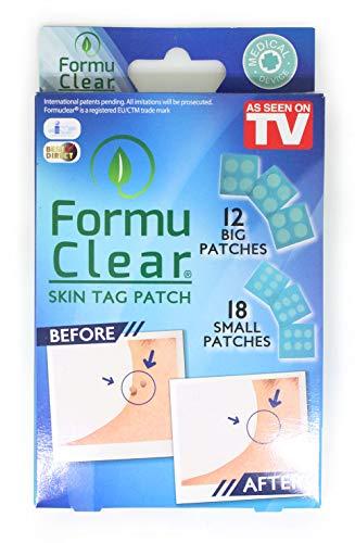BEST DIRECT FormuClear Original Skin Tag Comme vu à la TV Boîte de 30 Patchs pour éliminer les verrues Marques de peau, Solution Naturelle et Indolore, Pansement Medical – Riche en Acide Salicilyque
