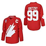 #99 Gretzky Labatt Team Coupe Canada Cup Men Ice Hockey Jersey Adult Stitched Red Size L