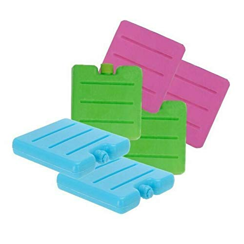 6 Pack 8CM Freezer Blocks Ice Brick Pack Block Blocks Freezer Cooler...