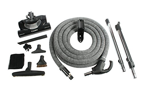 Cen-Tec Systems 92938 Central Vacuum CT20DXQD Kit with 35' DC Hose, Black