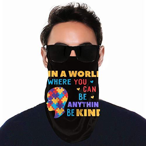 QsuNa In A World Where You Can Be Kind - Escudo facial unisex para pasamontañas y cuello