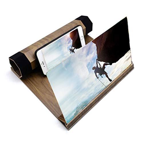 OJKM Opvouwbare Smart Phone Screen Amplifier Projector Movie Video Enlarger Houten Telefoonhouder Stand met 3D-scherm Vergrootglas 2