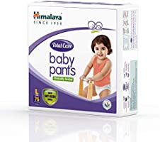 Himalaya Total Care Baby Pants Diapers, Large (9 - 14 kg), 76 Count