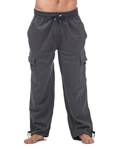 Pro Club Men's Heavyweight Fleece Cargo Pants, Medium, Charcoal