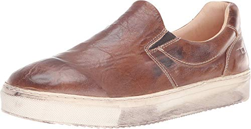Bed|Stu Women's Hermione Leather Slip-on (8.5 M US, Tan Rustic Mason Bfs)