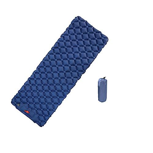 HMSLINCK Cuscino A Pelo Da Campeggio - Gonfiabile Ultra Leggero - Portatile E Comodo Per Tenda, Escursioni E Trekking (190cm X 60cm) - Blu-3