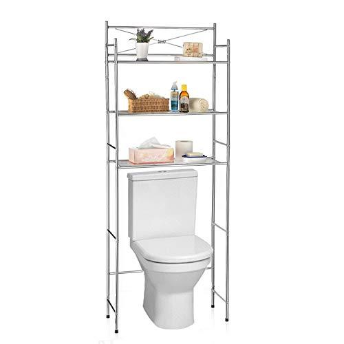 IDIMEX Etagère de Salle de Bain MARSA Meuble de Rangement au-Dessus des Toilettes WC ou Lave-Linge avec 3 tablettes, en métal chromé